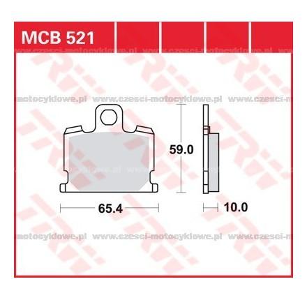 Klocki hamulcowe TRW MCB521