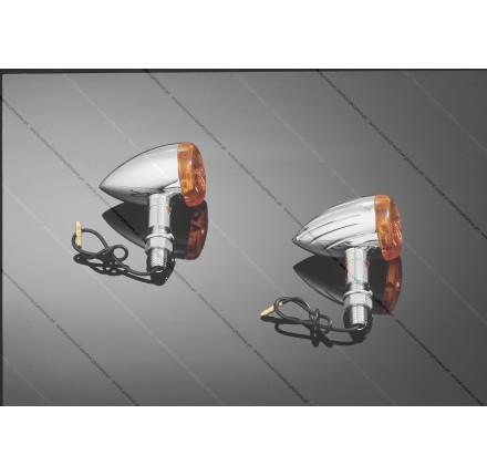 Zestaw kierunkowskazów BULLET gładkie, zestaw, posiadają homologację EU. Producent: Highway Hawk.