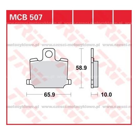 Klocki hamulcowe TRW MCB507
