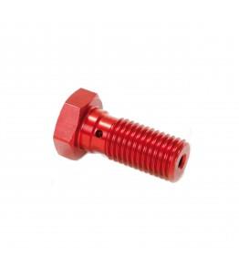 TRW śruba drążona krótka M10x1,25 czerwona