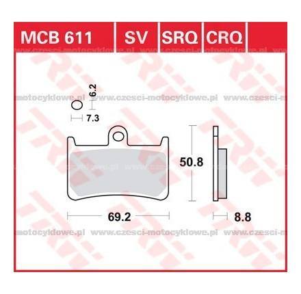Klocki hamulcowe TRW MCB611SRM