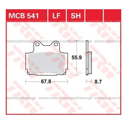 Klocki hamulcowe TRW MCB541