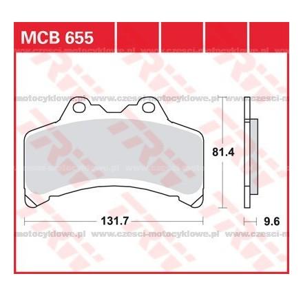 Klocki hamulcowe TRW MCB655