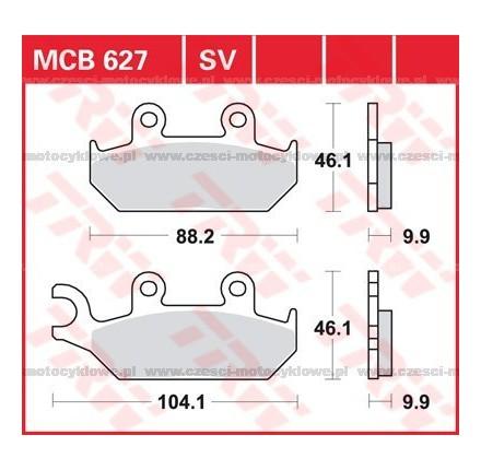 Klocki hamulcowe TRW MCB627SV