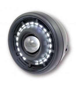 Reflektor CYCLOPS przód soczewka + LED czarny mat