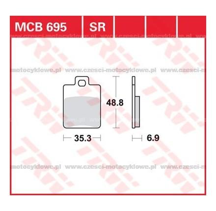 Klocki hamulcowe TRW MCB695SR