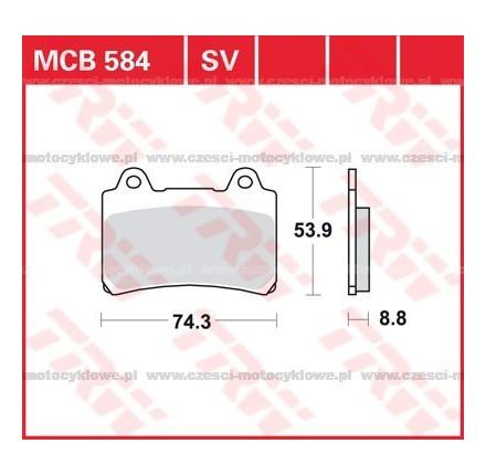 Klocki hamulcowe TRW MCB584SV