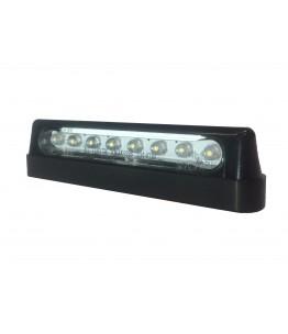 Oświetlenie tablicy rejestracyjnej czarne 8 diod