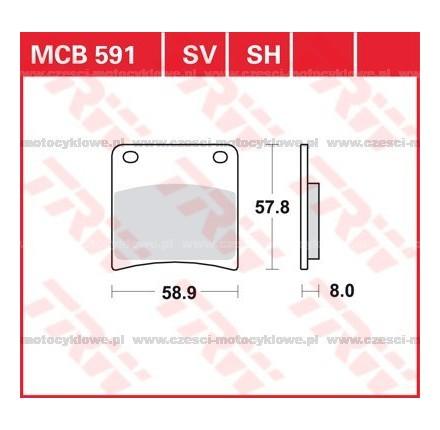Klocki hamulcowe TRW MCB591SV