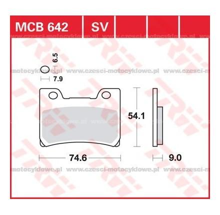 Klocki hamulcowe TRW MCB642SV