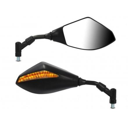 Uniwersalne lusterka motocyklowe z kierunkowskazem LED