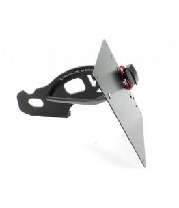 wspornik do bocznego mocowania, Modele HD FXD , -05, 180 mm czarny Płyta tablicy rejestracyjnej i oświetlenie tablicy rej