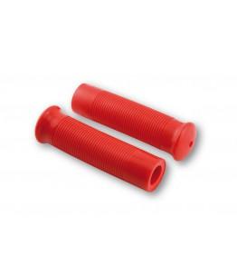 Manetki motocyklowe gumowe Metalflake czerwony