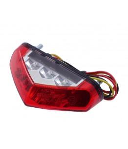 Światło tylne LED z czerwoną soczewką