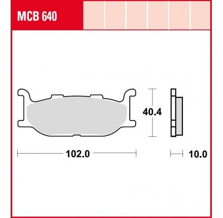 Klocki hamulcowe TRW MCB640