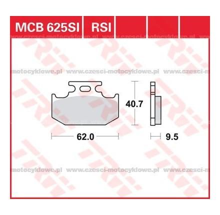 Klocki hamulcowe TRW MCB625RSI