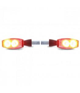 Kierunkowskazy LED + światło tylne/pozycyjne BLAZE czarne