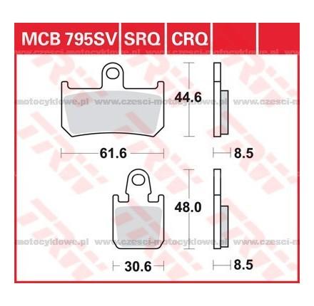 Klocki hamulcowe TRW MCB795SCR
