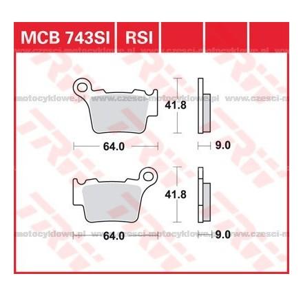 Klocki hamulcowe TRW MCB743RSI