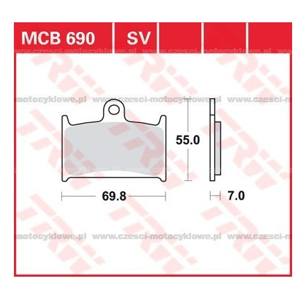 Klocki hamulcowe TRW MCB690SV