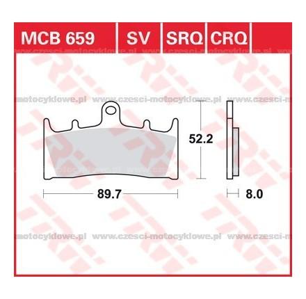 Klocki hamulcowe TRW MCB659SRQ