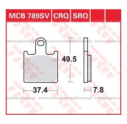 Klocki hamulcowe TRW MCB789SCR