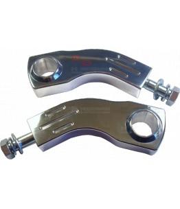 Podwyższenie kierownicy 1 cal łukowe 100 mm srebrne aluminium (OUTLET)