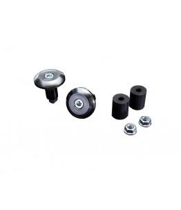 Zaślepka końcówki kierownicy do wszystkich kierownic z średnicą wewnętrzną 12mm i 18mm, srebrny, para