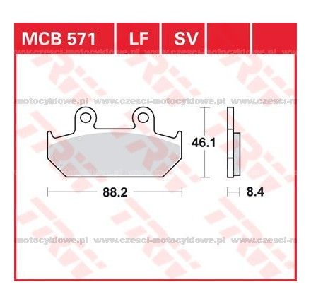 Klocki hamulcowe TRW MCB571SV