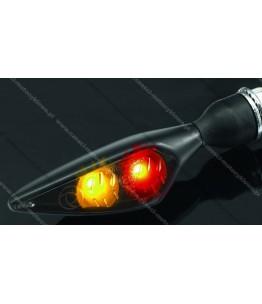 micro Rhombus DF Dark (kierunkowskaz, światło tylne, światło stopu)