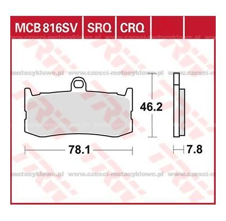 Klocki hamulcowe TRW MCB816CRQ