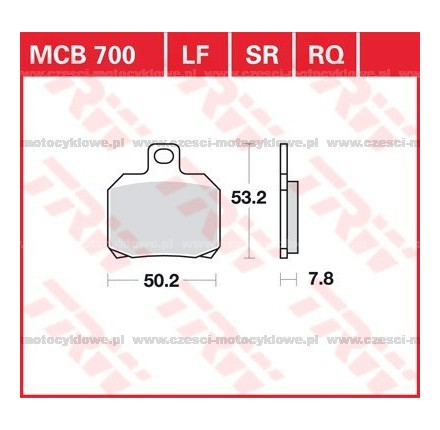 Klocki hamulcowe TRW MCB700