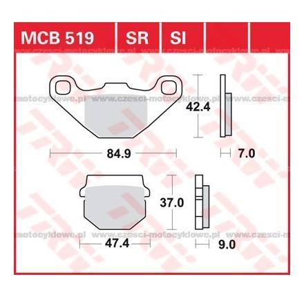 Klocki hamulcowe TRW MCB519SR
