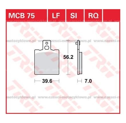 Klocki hamulcowe TRW MCB75SI
