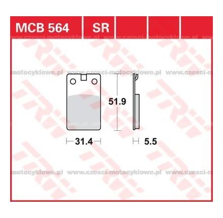 Klocki hamulcowe TRW MCB564SR