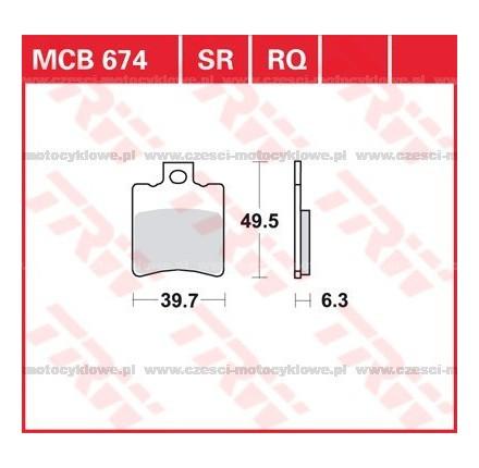 Klocki hamulcowe TRW MCB674SR