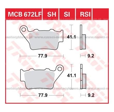 Klocki hamulcowe TRW MCB672RSI