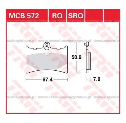 Klocki hamulcowe TRW MCB572RQ