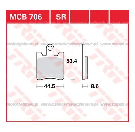 Klocki hamulcowe TRW MCB706SV