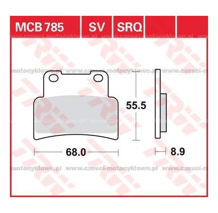 Klocki hamulcowe TRW MCB785SV