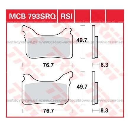 Klocki hamulcowe TRW MCB793SRQ