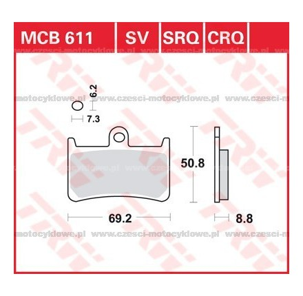 Klocki hamulcowe TRW MCB611SRQ