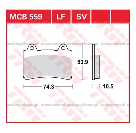 Klocki hamulcowe TRW MCB559SV