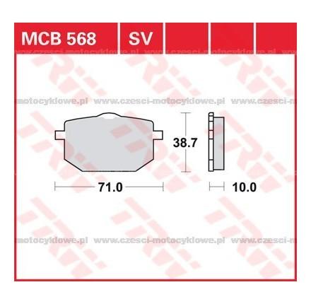 Klocki hamulcowe TRW MCB568SV