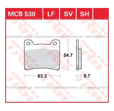 Klocki hamulcowe TRW MCB530SV