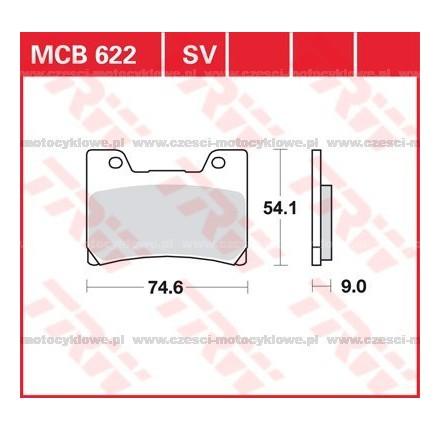 Klocki hamulcowe TRW MCB622SV