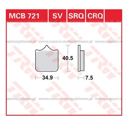 Klocki hamulcowe TRW MCB721SCR