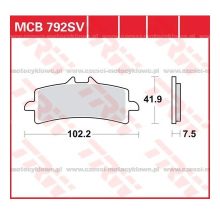 Klocki hamulcowe TRW MCB792SRQ