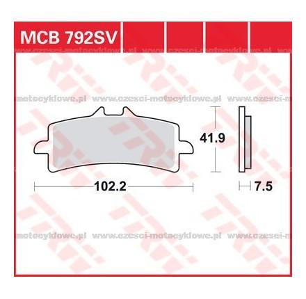 Klocki hamulcowe TRW MCB792SCR