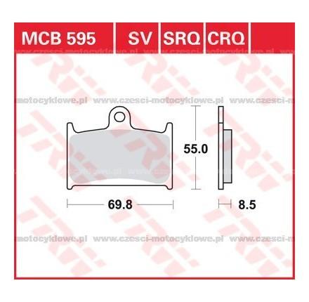 Klocki hamulcowe TRW MCB595SRQ